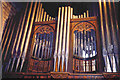 NY9365 : St. John Lee - shot of the organ pipes by Trudi Barr