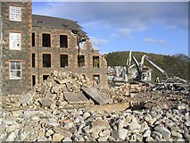 NT4935 : The demolition of the Lochcarron of Scotland Mill in Galashiels by Walter Baxter