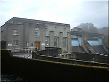 NN9357 : Pitlochry Power Station & Dam by Paul Hookway