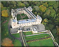 NY5662 : Aerial view of Naworth Castle by Simon Ledingham
