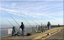 ST1972 : Fishermen on the Breakwater - Cardiff Bay by Tony Hodge