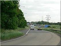SE3024 : Northbound sliproad, M1 Junction 41, Carr Gate by Rich Tea