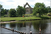 SE0754 : Bolton Abbey and the River Wharfe by Philip Halling