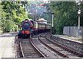 SD3787 : Haverthwaite Steam Railway loco arriving at Lakeside Windermere by Alan Pennington