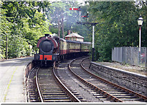 SD3787 : Haverthwaite Steam Railway loco arriving at Lakeside Windermere by Alan Pennington