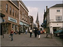 SK3871 : Chesterfield High Street and Crooked Spire by Alan Heardman