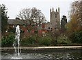 TF0919 : Bourne Abbey Church from the Memorial Gardens by Tony Atkin