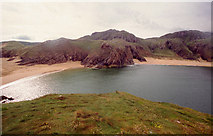 C1243 : Boyeeghter Strand and its neighbour from Rough Island by Kieran Evans