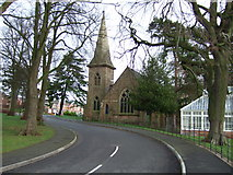 SK2933 : Disused church at the Pastures. by John Poyser