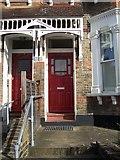 TQ2182 : Typical Harlesden Front Door by Russell Trebor