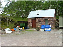 NG7040 : Storage Building at  Ard dhubh Pier by Dave Fergusson