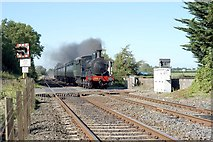 J1461 : Steam passing Drumbane Crossing by Wilson Adams