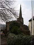 SK3463 : Ashover Church North Face by Tony Bacon