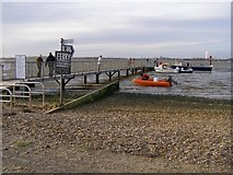 SZ1891 : Ferry jetty at Mudeford Spit by Jim Champion