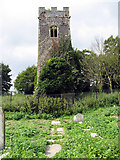 TG2219 : Old Church, Hainford, Norfolk - Ruin by John Salmon