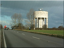 TM1888 : One Of Two Water Towers by Keith Evans