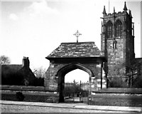 SD8913 : Rochdale:  Parish Church of St. Chad and lychgate by Dr Neil Clifton