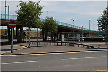 J3474 : The Station Street/Bridge End flyover, Belfast by Albert Bridge
