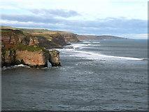 NT9955 : Coastline at Needles Eye, North of Berwick by Lisa Jarvis
