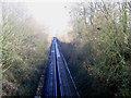TQ6667 : Railway cutting at Henley Street by Stephen Craven