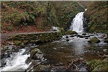 J3996 : Glenoe waterfall (6) by Albert Bridge