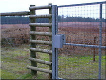 SJ9715 : Fence and gate of Quarry extension by Jack Barber