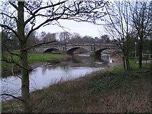 SK0120 : River Trent approaching Wolseley Bridge looking North East by Jack Barber