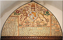 TR1859 : St Mary, Fordwich Kent - Royal Arms by John Salmon