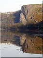 ST5674 : Sea Walls reflected in the River Avon by Linda Bailey