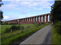 NH7644 : Culloden Viaduct by Margaret Morgan
