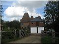 TQ6444 : Brook Farm Oast & East Oast, Sychem Lane, Five Oak Green, Kent by Oast House Archive
