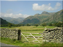 NY3006 : Great Langdale from close by Robinson Place by John Charlton