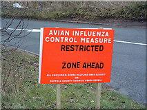 TM1154 : Avian Influenza ( Bird Flu ) Sign by Keith Evans