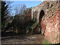 SX9192 : Exeter: the walls behind the Custom House by Derek Harper