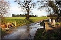 TM0568 : Finningham ford and footbridge by Bob Jones