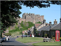NU1834 : Bamburgh and the Castle by Garry Smales