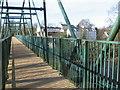 NS6958 : The Clyde Walkway crosses the David Livingstone Memorial Bridge by Chris Wimbush