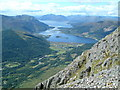 NN1358 : View over Glencoe Village from Sgorr nam Fiannaidh by Paul