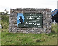 SH7783 : 'Welcome to Great Orme Country Park' by John S Turner