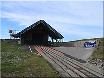 SH7783 : Great Orme Half Way Station by John S Turner