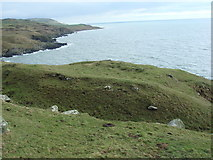 NX3639 : Promontory fort near St Medan by Les Dunford