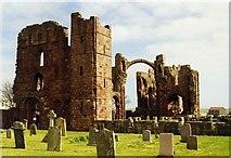 NU1241 : Lindisfarne Priory, Holy Island by Tom Pennington
