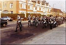 TQ1672 : ATC Band in Cross Deep, Twickenham, 1983 by Stephen Williams