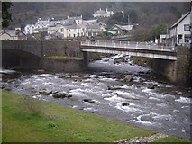 SS7249 : Confluence of East and West Lyn Rivers, Lynmouth by Ruth Sharville