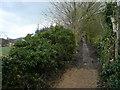 SK3462 : Overton - Flagstone Footpath by Alan Heardman