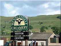 SD8789 : Home of Wensleydale cheese. by Ken Walton