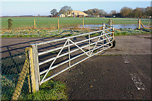 SP2907 : Gate and RAF hangars by Martin Loader