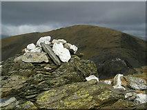 SH6643 : Summit cairn of Moelwyn Bach by John Lynch