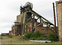 SK4964 : Pleasley Colliery - South Shaft by Betty Longbottom