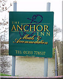 TL4279 : The Anchor Inn Sign by Peter Easton